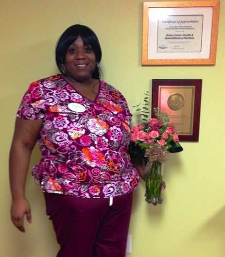 Skilled nursing Care Connection honor awarded to Lashana Miller at Brian Center of Durham NC